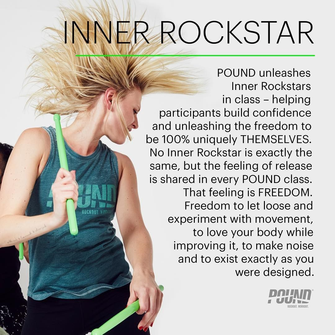 Inner Rockstar From The Pound Info Series On Instagram Pound Workout Rockout Workout Memes Cardio Drumming