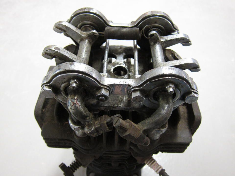 A British Anzani 8-valve 1098cc V-twin engine,