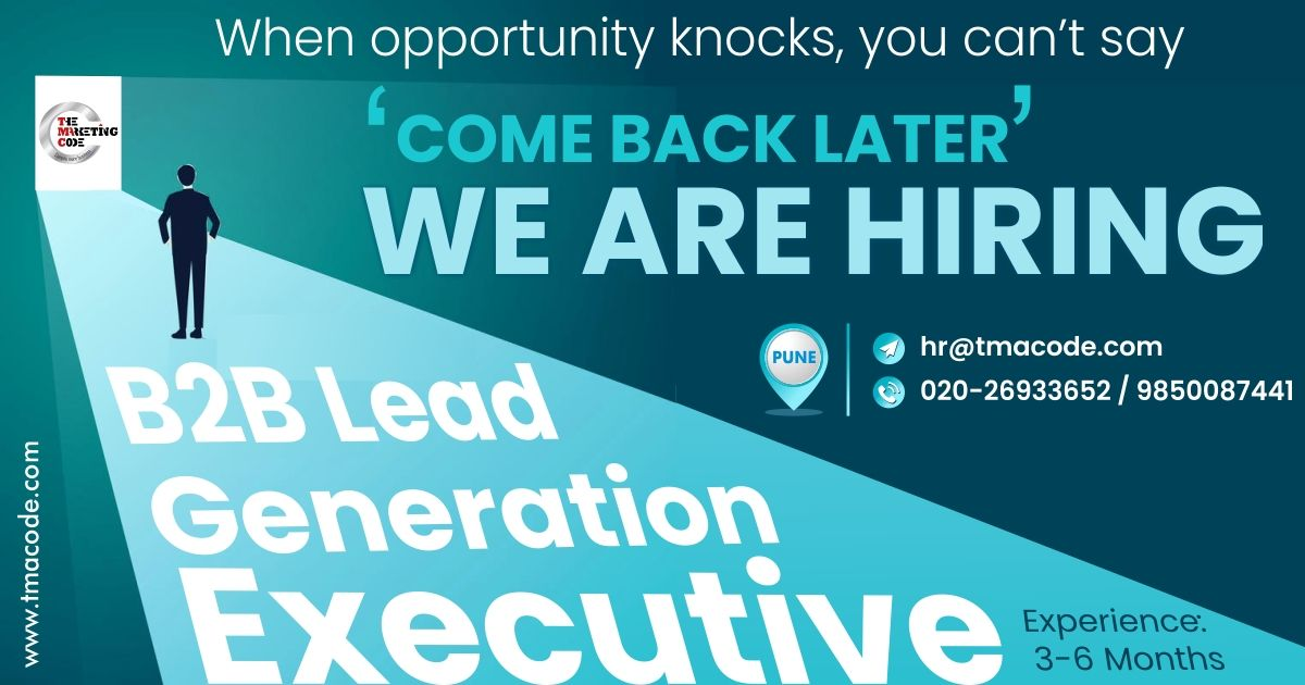 Hello Connections Greetings Good Wishes We Have Urgent Opening For Lead Generation Executive Hiring Job Jobs Job Opening Graduate Jobs Job Hunting