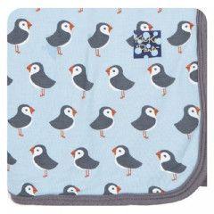 Print Swaddling Blanket - Pond Puffin