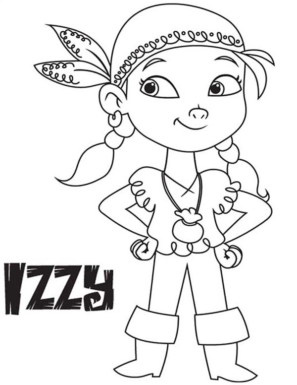 Izzy The Vice Captain Of Never Land Pirates Coloring Page Kids Play Color In 2020 Pirate Coloring Pages Coloring Pages Coloring Pages For Kids