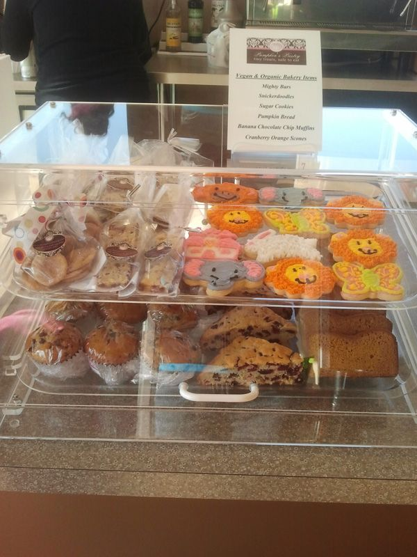 Another Photo Of Vegan And Nut Free Display At Our Newest Location Cafe N Play Banana Chocolate Chip Muffins Chocolate Banana Bread Cranberry Orange Scones