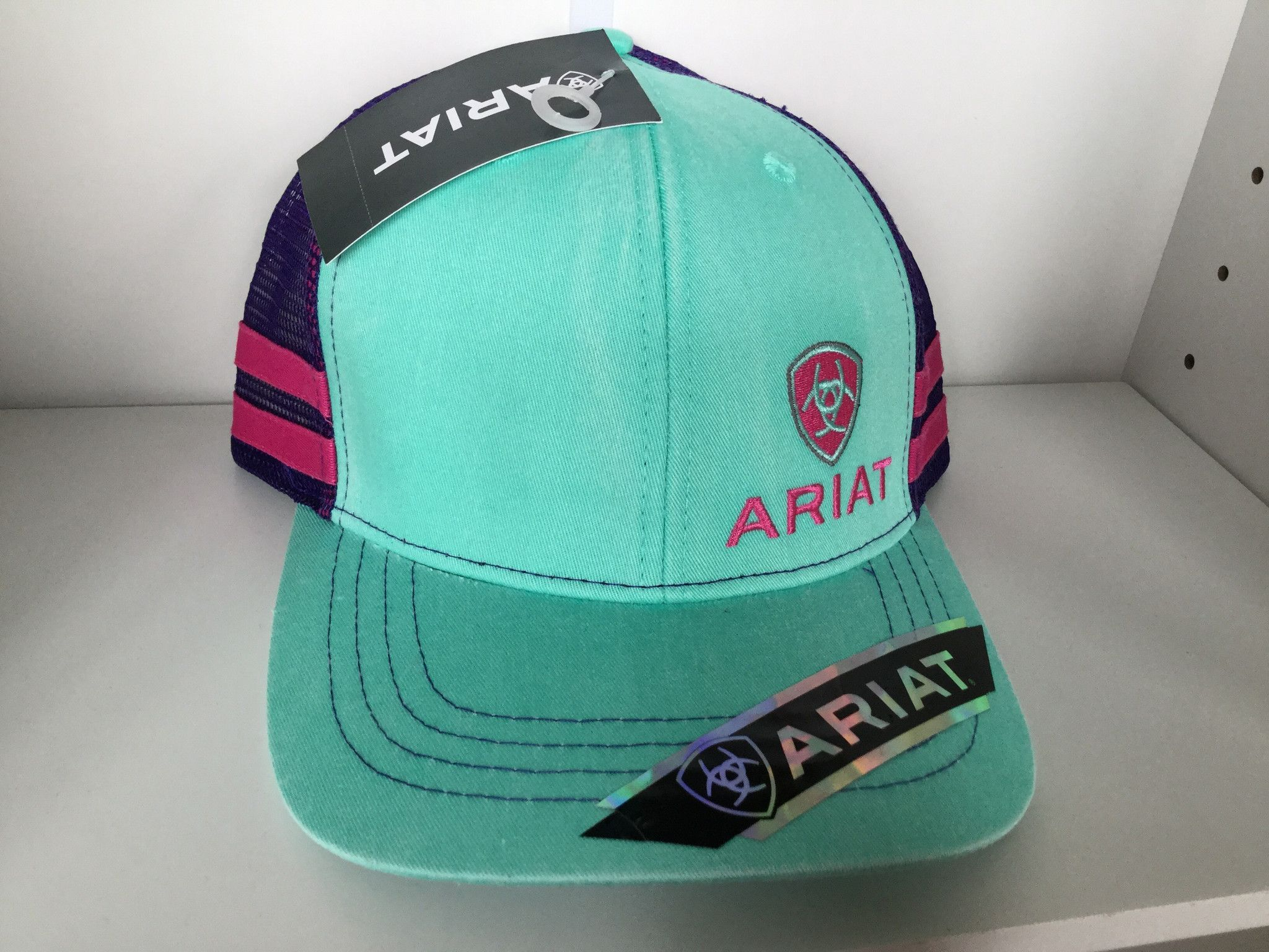 Ariat Western Women Hat Baseball Cap Mesh Shield Logo