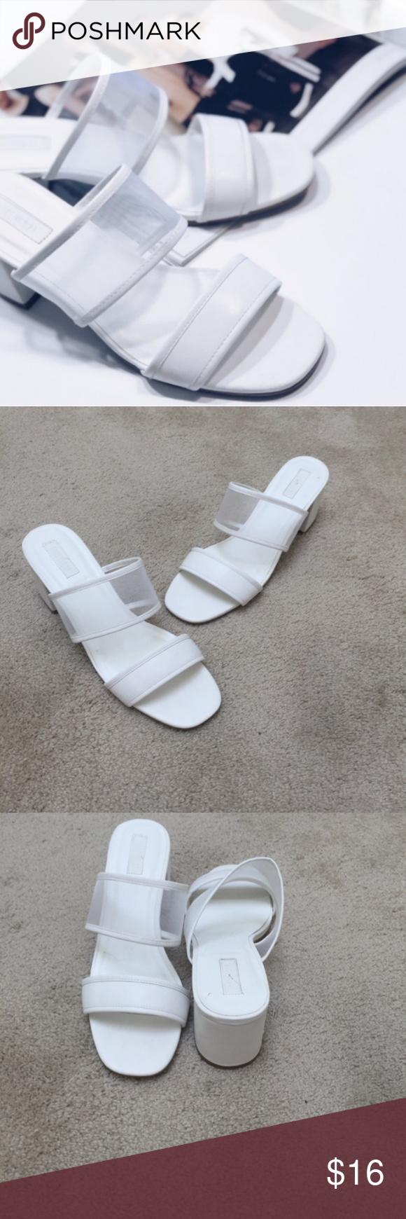 White Mesh Mules | Clothes design