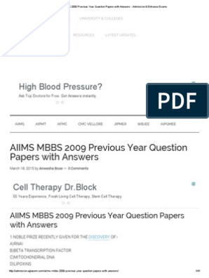 Question pdf mbbs papers entrance exam solutions
