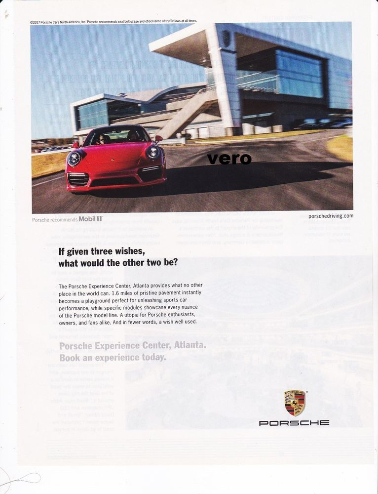 Magazine Ad Porsche Print Art Clipping Car Automobile Adve Car
