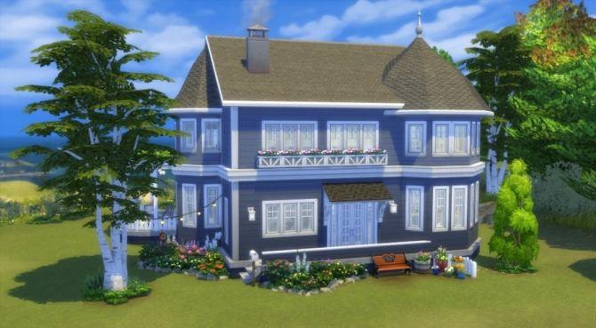 Blue house by Pyrénéa at Sims Artists