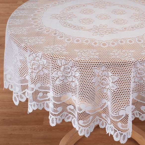 White Rose Lace Tablecloth Lace Tablecloth Table Cloth Rose Lace