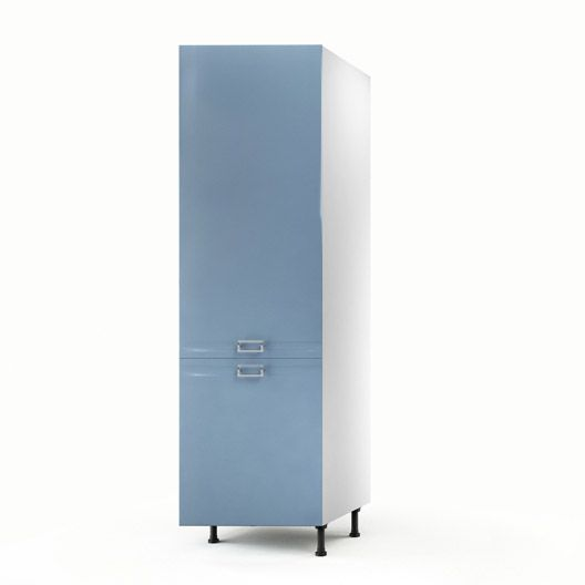 Colonne bleu 1 porte crystal h200xl60xp56 cm cuisine - Amenagement placard cuisine leroy merlin ...