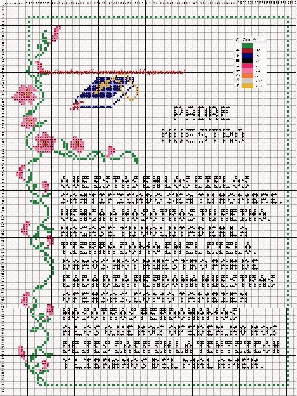 GRAFICOS PUNTO DE CRUZ GRATIS : LA CREACION DE ADAN Y EVA Y ...