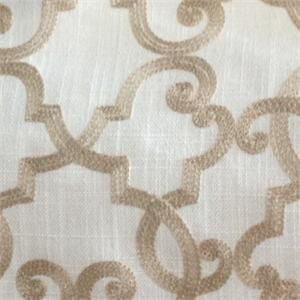 All Tied Up Toffee Embroidered Home Decorating Fabric;Our Price ...
