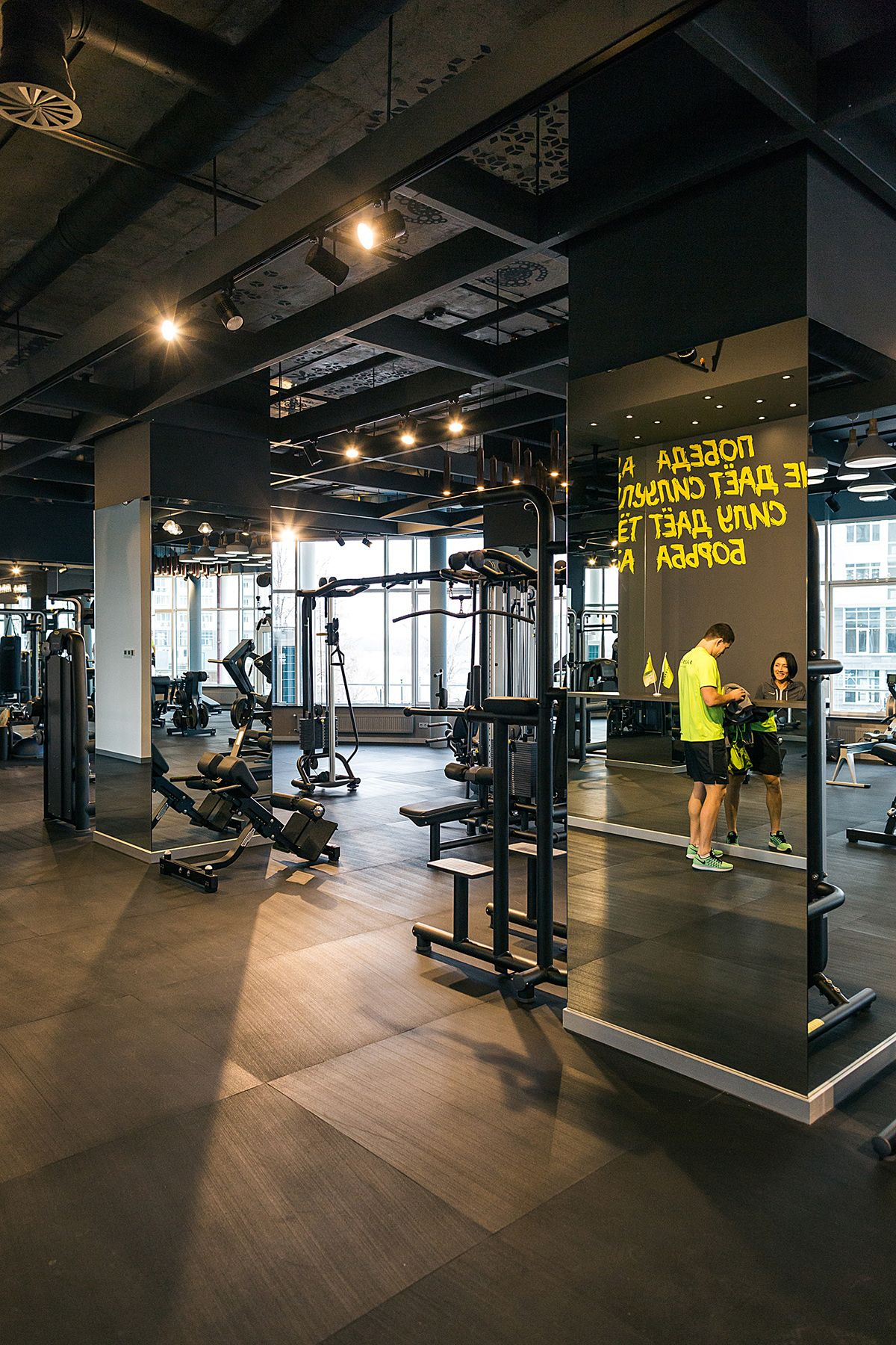 Palestra fitness club full project on behance fitness for Gym interior design