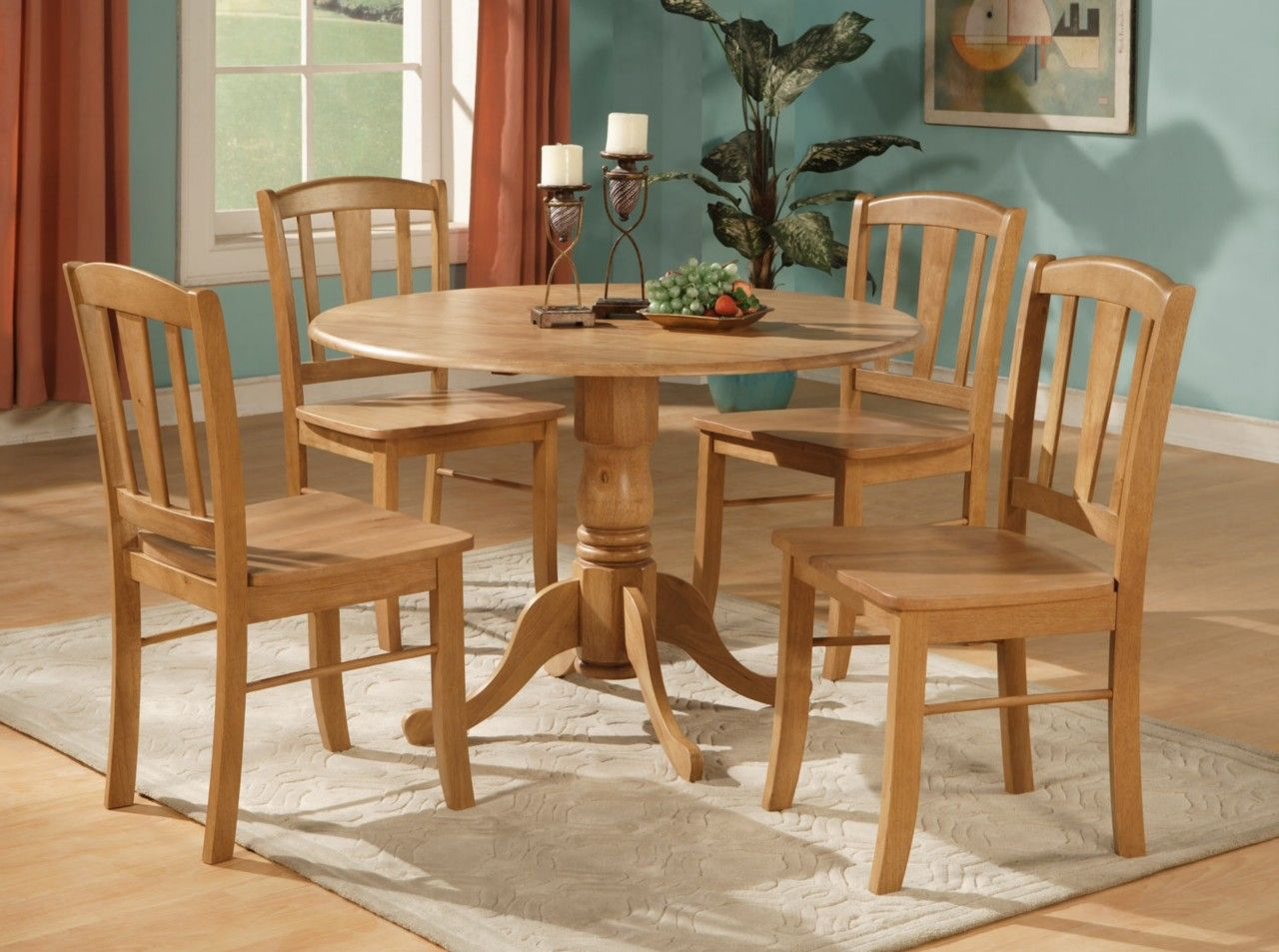 KitchenWood Kitchen Table And Chairs Sets Wood Dining Accent Candle