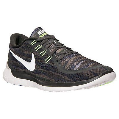 new arrival 38d1f 9ca6c Nike Free 5.0 Print Mens 749592-301 Sequoia Green Athletic Running Shoes Sz  8.5