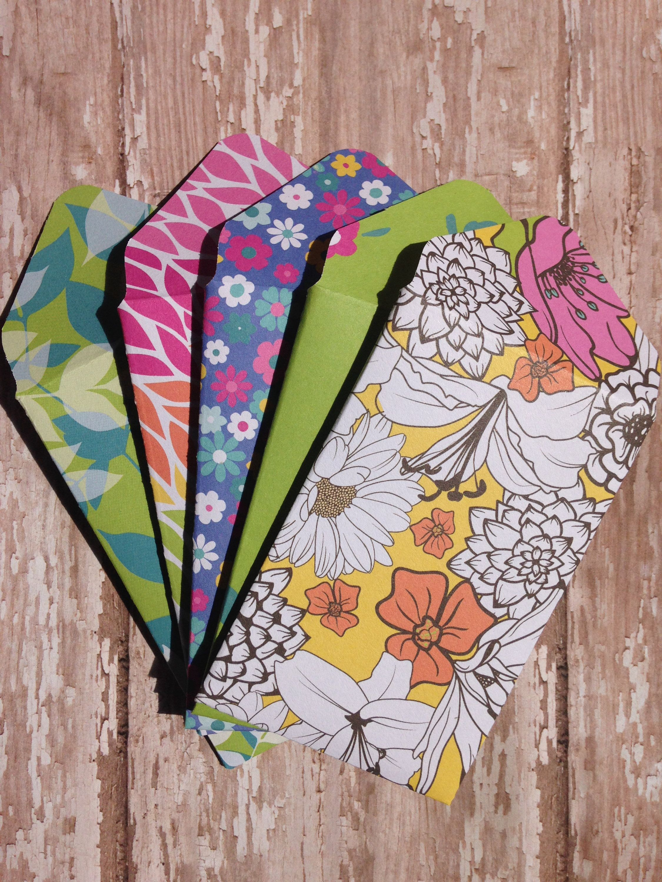 Floral gift card envelopesfloral money holdersbright and