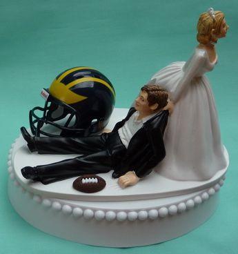 Michigan Wolverine Cake Topper