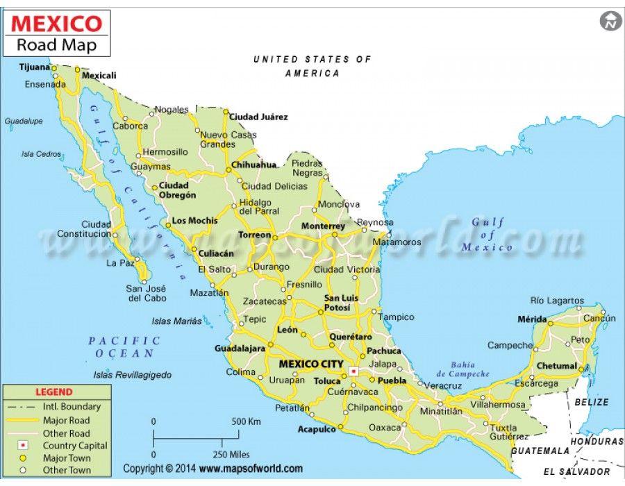 buy mexico road map