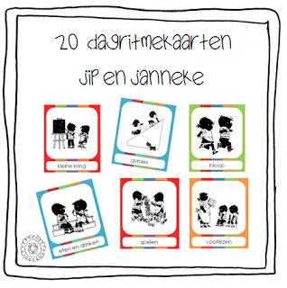 20 Dagritmekaarten Thema Jip En Janneke