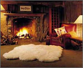 A Fur Rug Would Be A Plus Sheepskin Rug Cozy Fireplace Fireplace