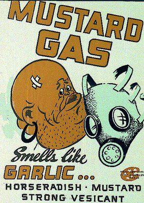 WWII Camp Barkeley Phosgene Gas Chemical Warfare Training Poster Ver 1