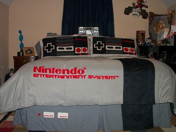 Parure De Lit Nintendo Nes Parure De Lit Lit Couette Ete