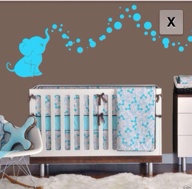 Elephant Bubbles Nursery Wall Decal Set Ohhhh The Pink Is Presh