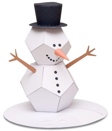 snowman pictures snowman paper sculpture dbkv pinterest snowmen. Black Bedroom Furniture Sets. Home Design Ideas