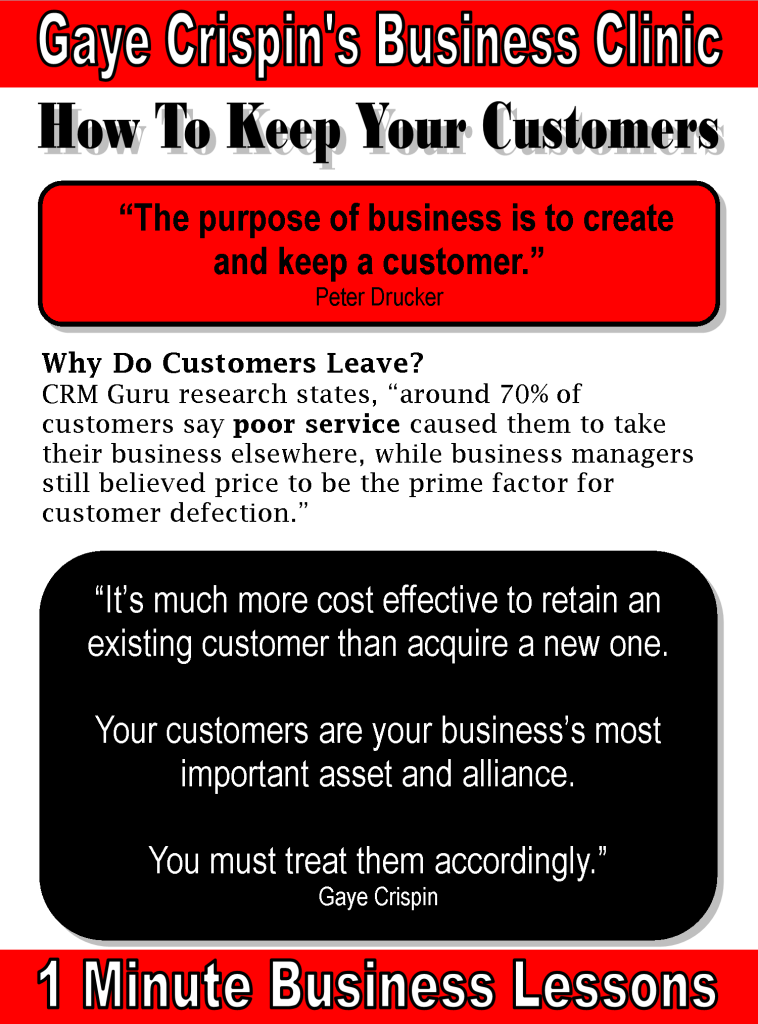 15 Ways to Lessen Customer >> – – 15 Ways To Keep Your Customers by Gaye  Crispin Know why your customers stay and why your customers …
