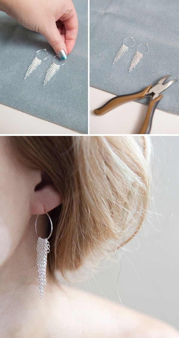 DIY | chain link earrings    presents i WILL be making people :)