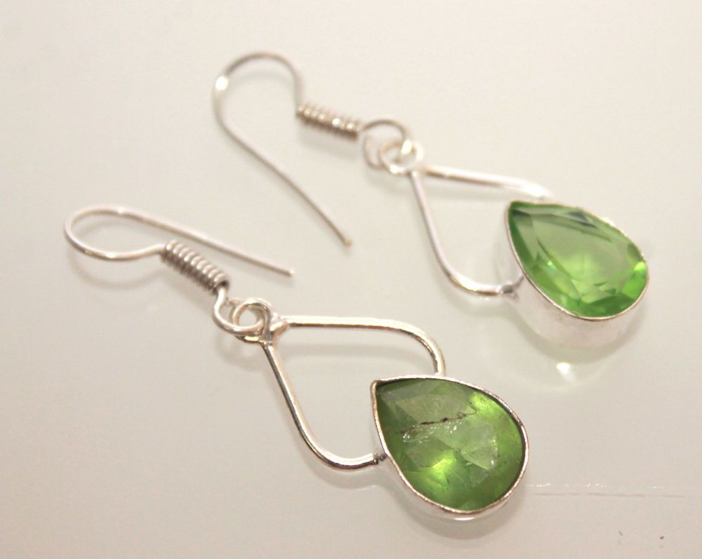 BEAUTIFUL GREEN QUARTZ FOR HER 925 STERLING SILVER FASHION JEWELRY ...