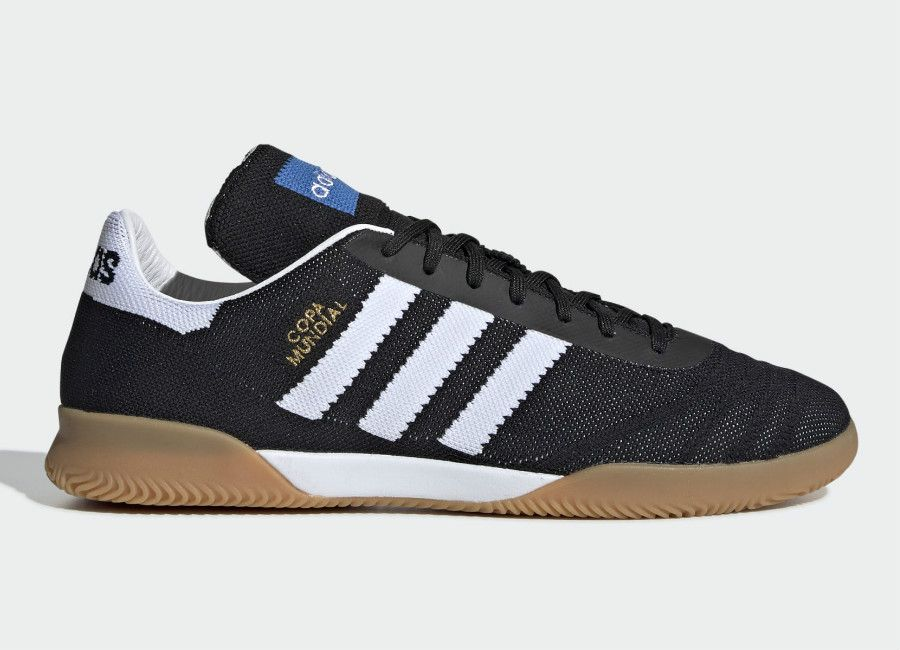 4347ad5f0de2 Adidas Copa Mundial 70 Years Trainers - Core Black   Ftwr White   Gold Met   Adidasfootball  Adidassoccer  Futsal