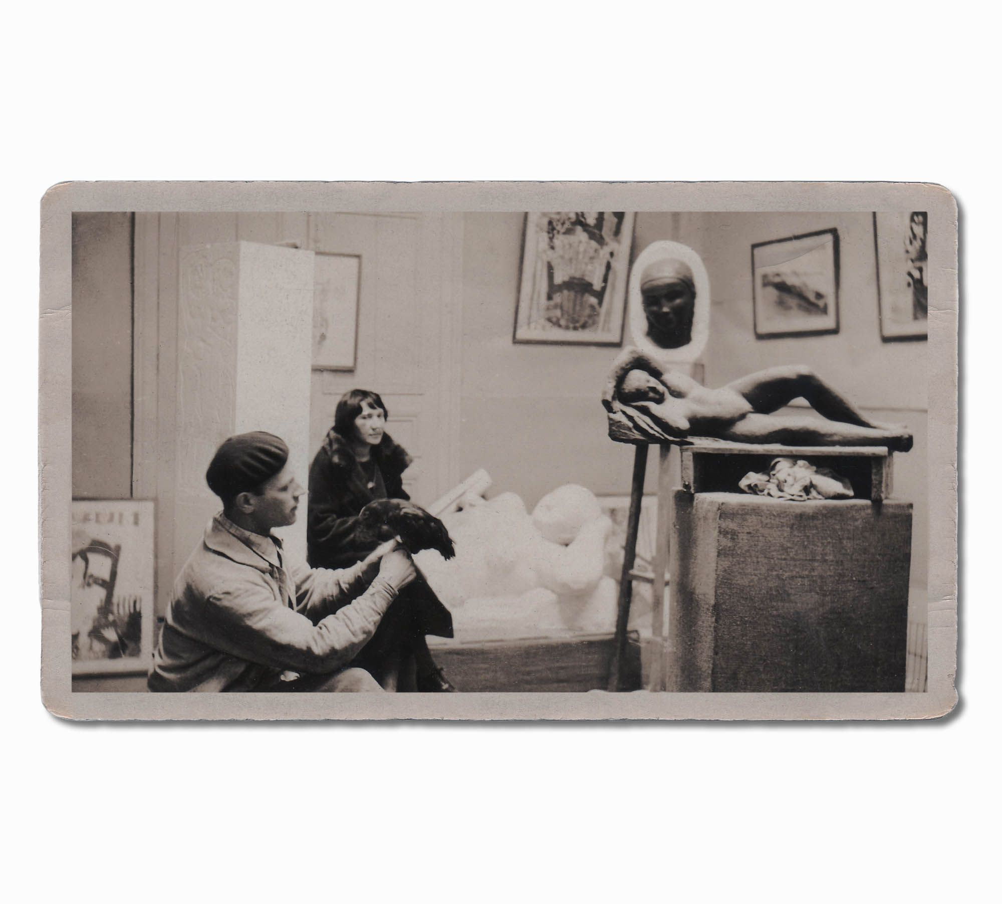 leon indenbaum 1890 1981 in his studio of artist la. Black Bedroom Furniture Sets. Home Design Ideas