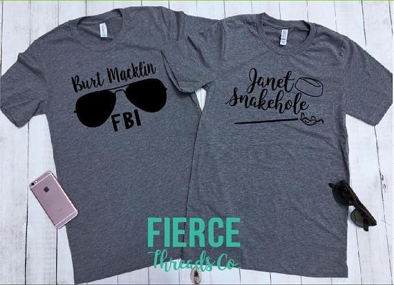 5995a0c28 Burt Macklin & Janet Snakehole Shirt Set Couples Shirts Best ...