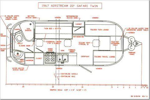 1969 airstream safari 1967 airstream safari 22 c&ers rh pinterest com 1965 Airstream Electrical Diagram 1972 Ambassador Airstream Plumbing Diagram