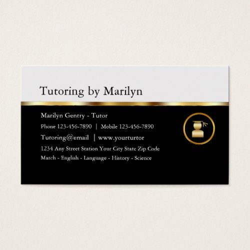Classy teacher tutoring business cards tutoring business classy teacher tutoring business cards reheart Image collections