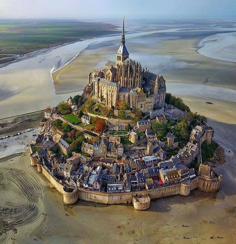 "FANTASTIC EARTH on Instagram: ""Mount Saint Michel, France Photo by @secretagent_wesanderson  #fantastic_earth"""
