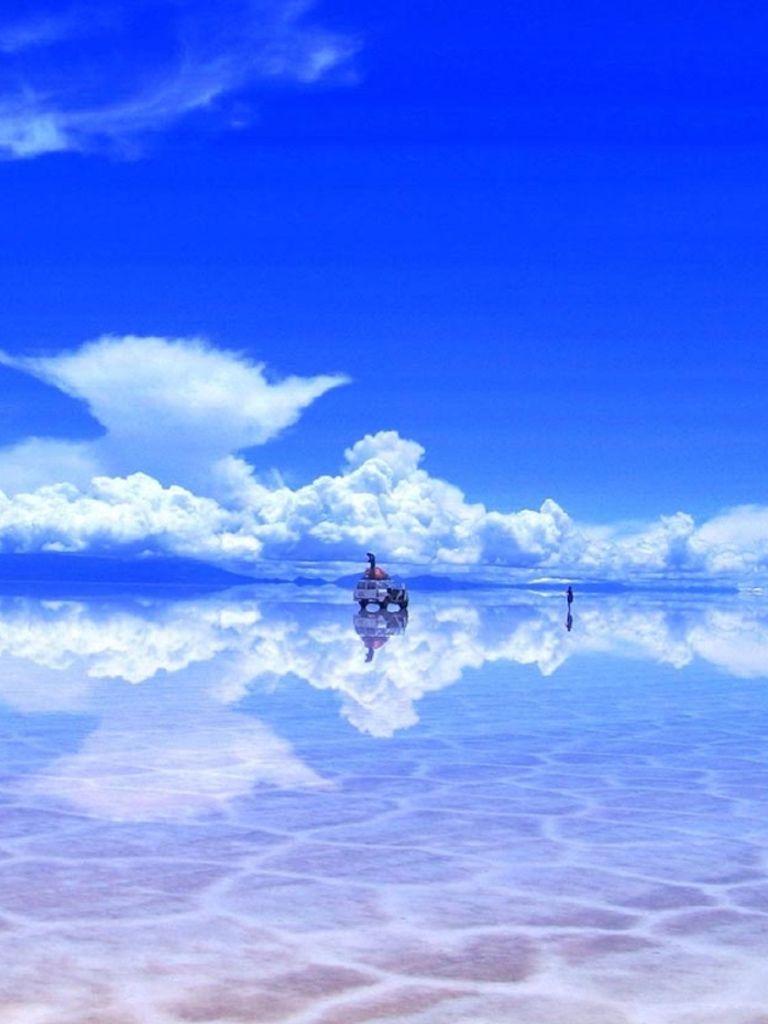 ボリビアのウユニ湖の壁紙 Ipad用 768 1024 塩湖 ボリビア ウユニ