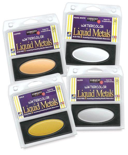 Liquid Metal Watercolor Pans