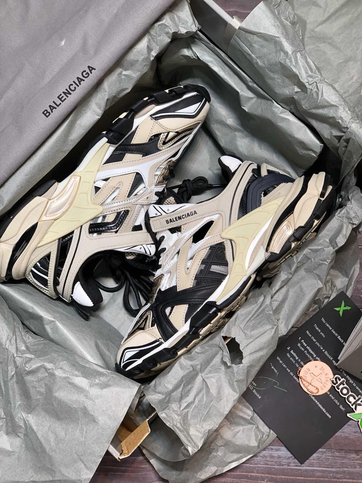 Balenciaga Track 3 0 Orange White Brand Shoes pksneaker com