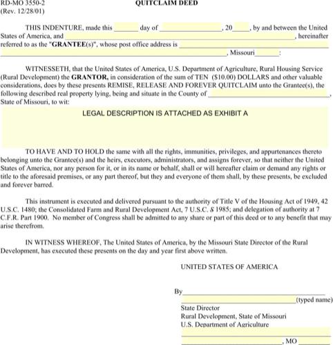 Missouri Quitclaim Deed Form Templates&Forms Pinterest