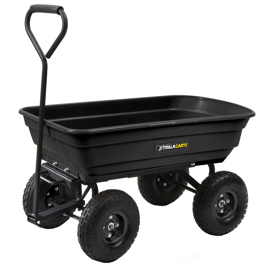 Gorilla Carts 3 Cu Ft Poly Yard Cart Lowes Com I Want One