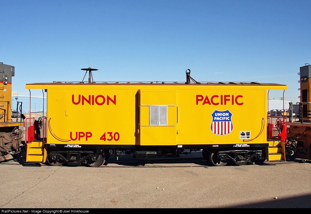 Upp 430 Union Pacific Caboose At Denver Colorado By Joel Hinkhouse Caboose Union Pacific Railroad Train Truck