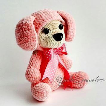 Плюшевая собачка амигуруми | Вязание, вышивка | Pinterest