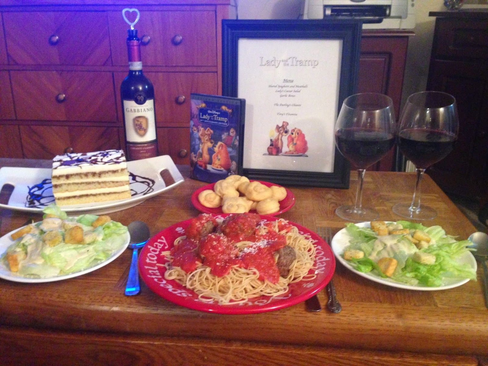 Reel Fancy Dinners Lady And The Tramp Theme Dinner Movie Night Dinner Movie Night Food Dinner And A Movie