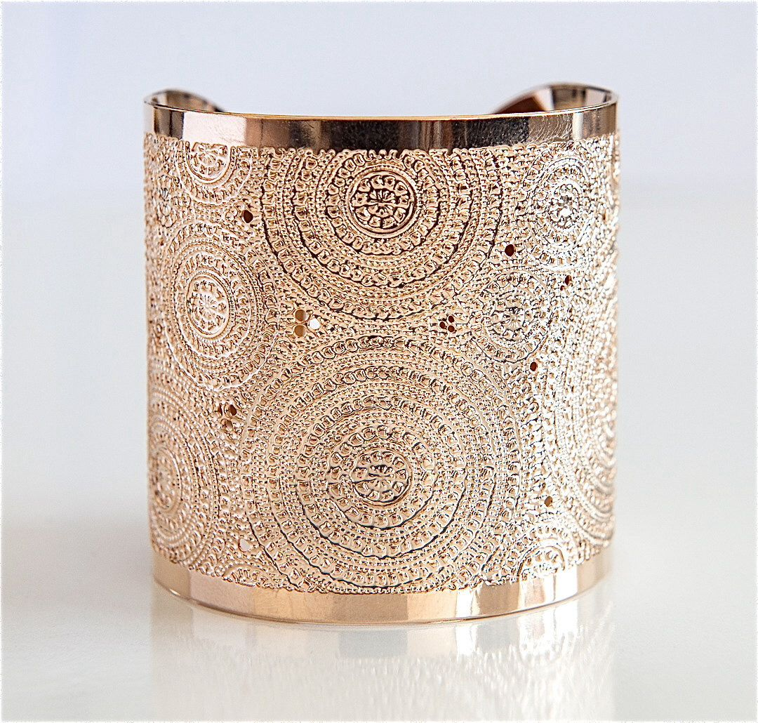 Rose gold cuff bracelet mandalamodern jewelry rose gold bracelet