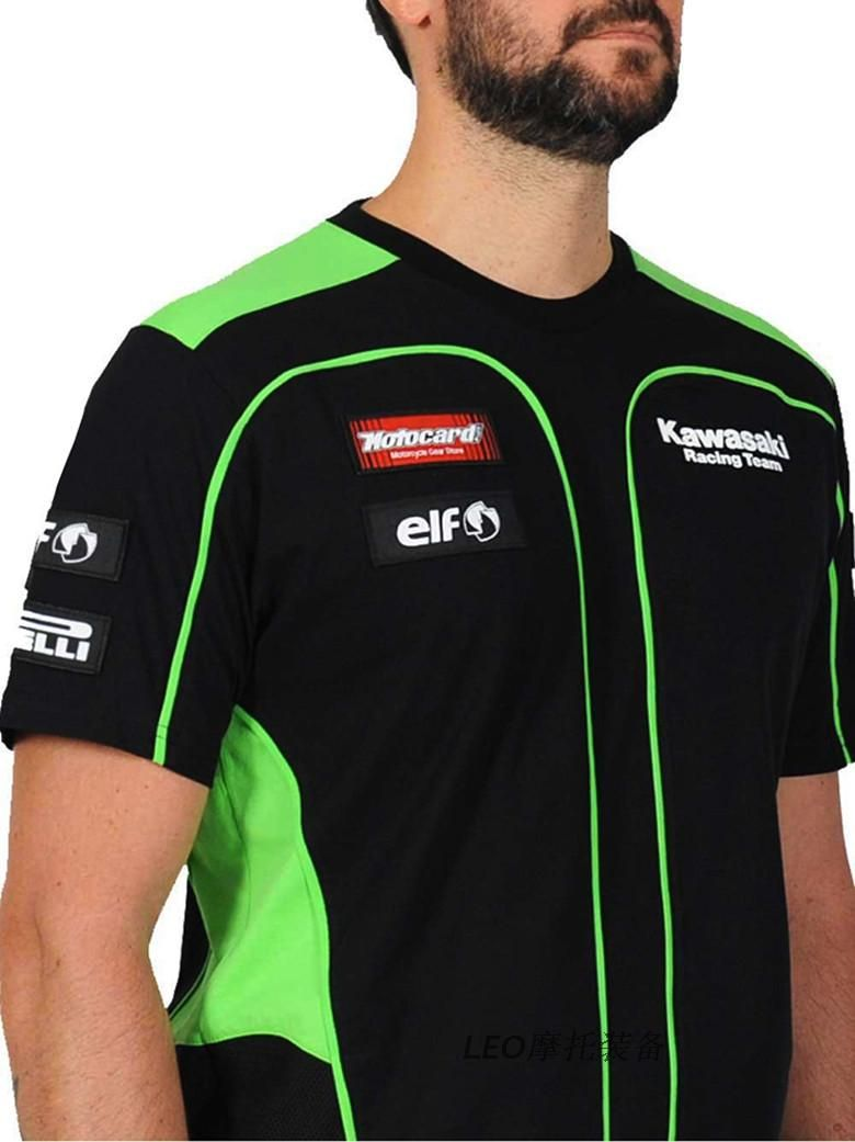 Buy KAWASAKI MotoGP Racing Team Motorbike ELF Men T-shirt .Lots of discount  and promotional sales. 33769f3c21bb1