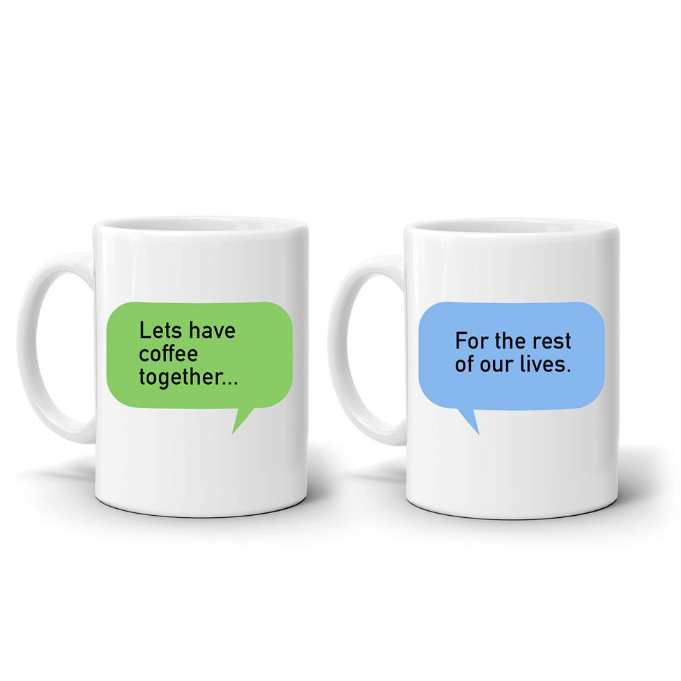 Find Yourself Tongue Tied In Front Of The Person You Adore The Most Weve Got Your Back With This Cute Pair Of Mugs Which Will Do The Talking For You
