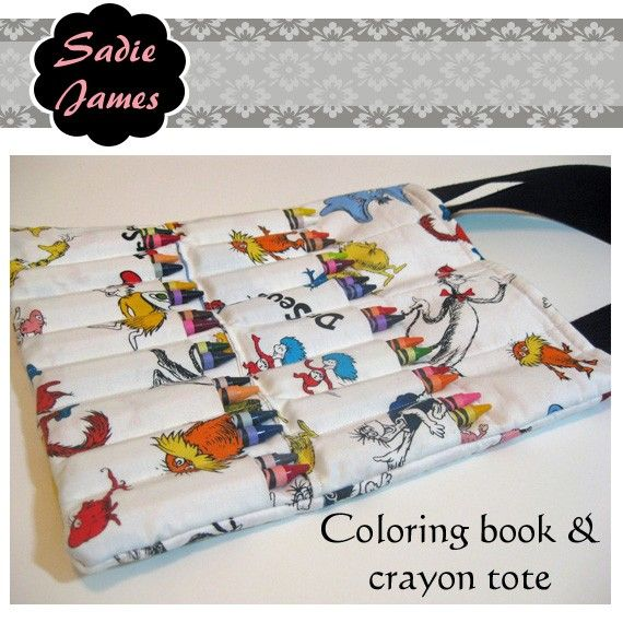 coloring book crayon tote pattern - Coloring Book And Crayon Holder
