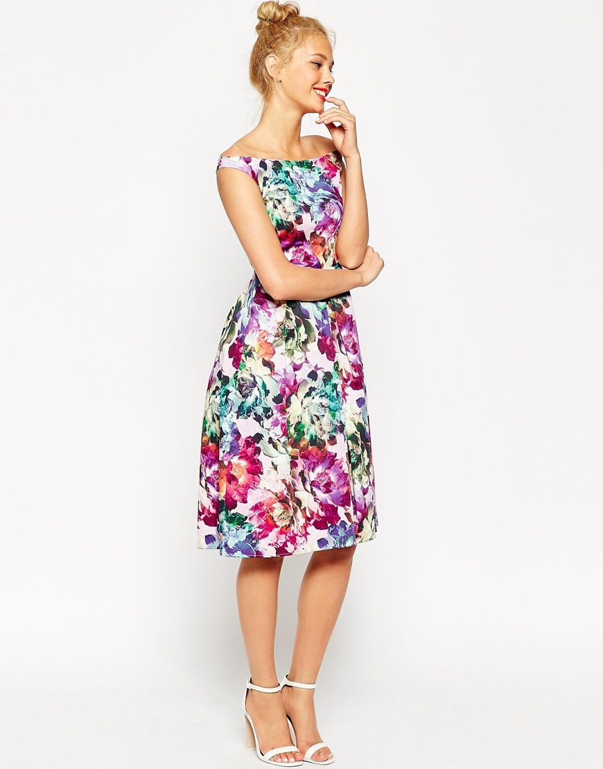 Image 4 of ASOS PETITE Beautiful Floral Midi Prom Dress | Dresses ...