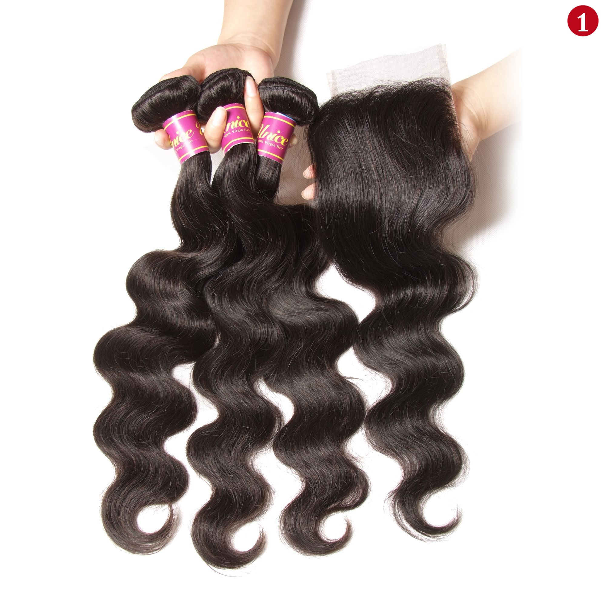 0a00f16f5 Pin by SUNWIG on Loose Wave 3 Bundles Hair With 4x4 Lace Closure in ...